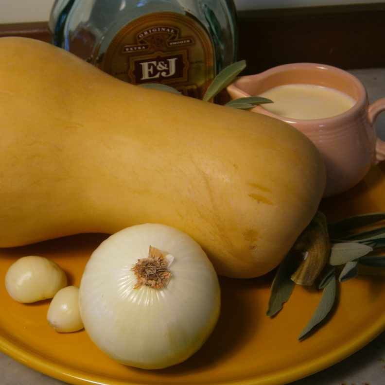 Make a delicious Butternut Squash Soup with very basic ingredients.
