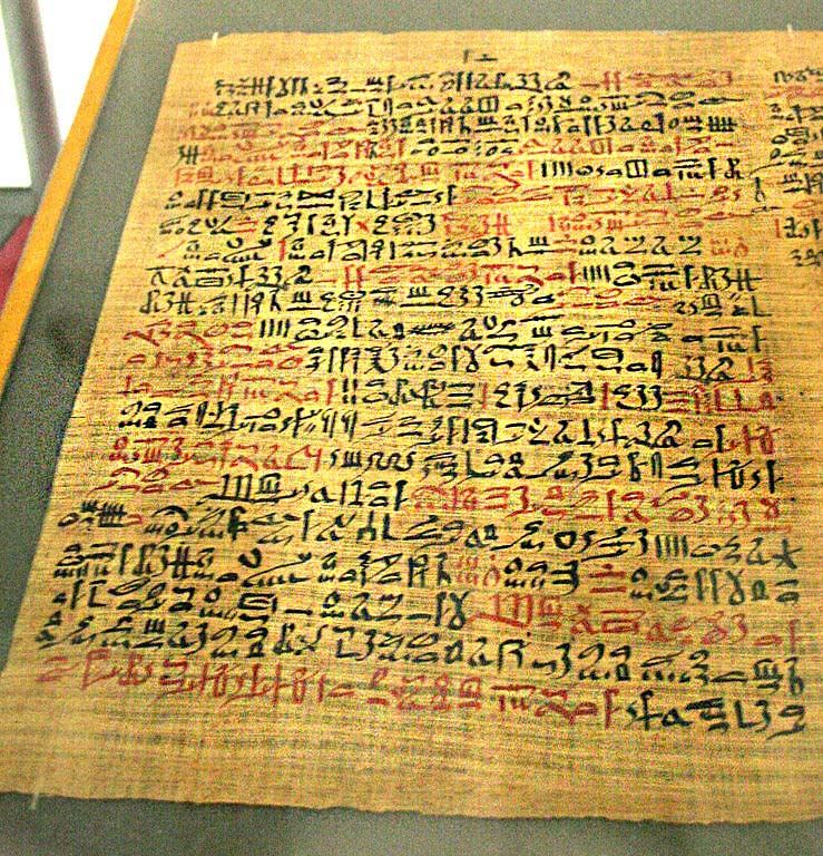 Writings from ancient Egypt detailing the use and preparation of many plants for use as medicine.