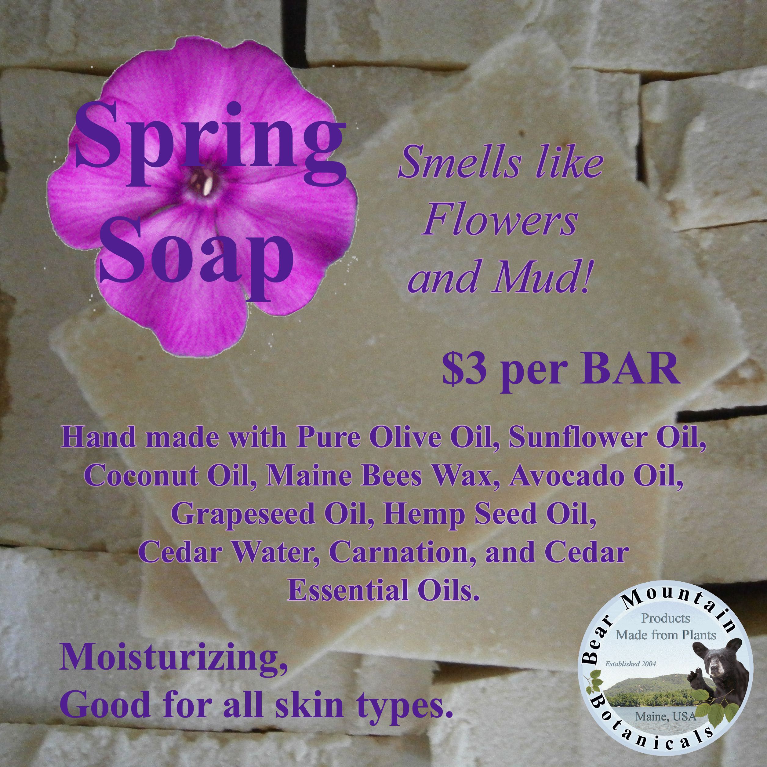 Spring Soap - Bear Mountain Botanicals